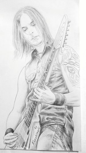 First Eyeem Photo Matthew Tuck Matt Tuck Bulletformyvalentine Bullet For My Valentine Guitar Guitarist Musician Portrait Picture Drawing Draw Drawing ✏ Paper Blackandwhite Men Art ArtWork Art, Drawing, Creativity