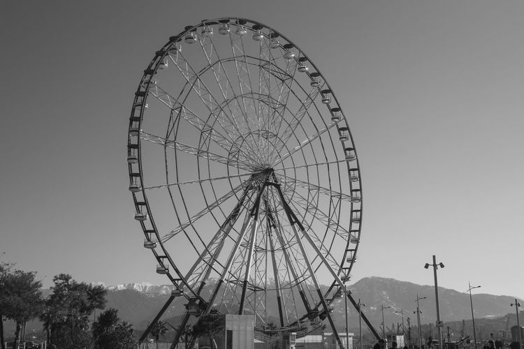 Amusement Park Big Wheel Black And White Black And White Collection  Black And White Photography Day Ferris Wheel Nature No People Outdoors Sky Swing Tree