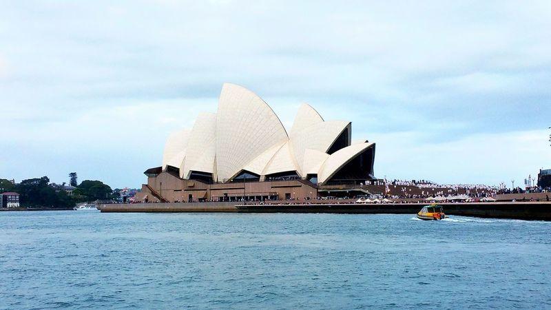 Sydney Opera House. Travel Travel Photography Sydney Australia Sydney Opera House Iconic Blue Sky Sea Wanderlust The Tourist Eye Em Travel