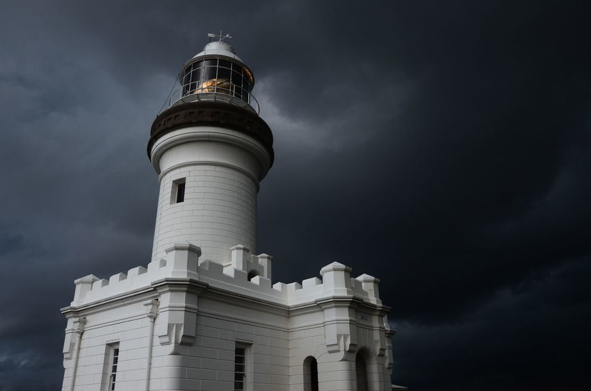 Architecture Building Exterior Byron Bay Byron Bay Lighthouse Cloud - Sky Illuminated Lighthouse Lighthouse By Jj Lighthouse_lovers Lighthouses Low Angle View No People Outdoors Sky