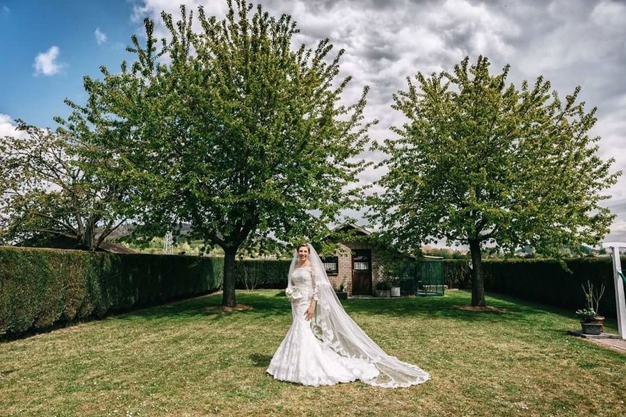 Wedding Tree Wedding Dress Bride Cloud - Sky Sky Wedding Ceremony Life Events Bridegroom Day Outdoors Grass Bouquet Only Women Adult Young Women Young Adult Nature People One Young Woman Only