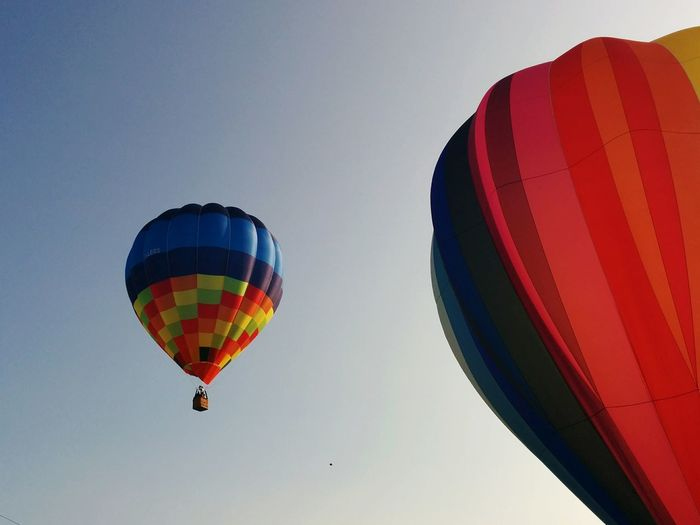 Baloons Sky Colors Baloon Flying Pastel Colors