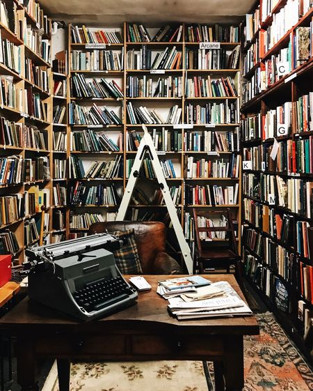 The Bookshop Books Bookstore Bookworm Desk Lifestyle Reading Scotland The Week On EyeEm Writing Abundance Book Bookshelf Bookshop Education Indoors  Interior Interior Design Library Lifestyles Literature No People Shelf Study Typewriter Writing Instrument