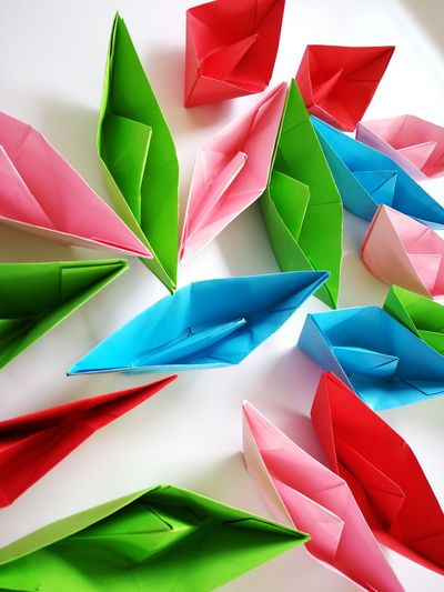 colorful papers boat Multi Colored Paper Variation Group Of Objects Full Frame Close-up Green Color Origami Paper Boat ArtWork Triangle Shape Crayon Watercolor Painting Geometric Shape Craft High Voltage Sign Digitally Generated Seesaw Triangle Sculpted Art Square Shape Crane - Bird Bunting Paper Airplane Craft Product Coloring Pyramid Shape Brush Stroke Folded