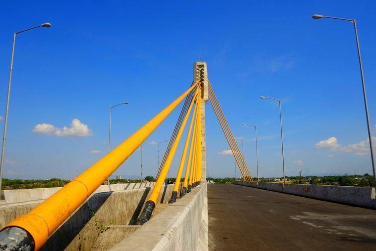 Bridge against blue sky