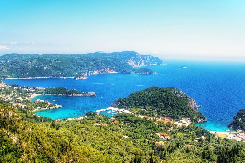 Corfu EyeEmNewHere Water Sea Clear Sky Beach Blue Mountain Yacht Sky Landscape Horizon Over Water Archipelago Seascape Coastline Bay Of Water Calm Island Ocean Coast Bay