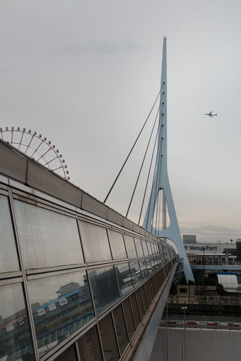 Transportation Bridge Architecture Built Structure Bridge - Man Made Structure Mode Of Transportation Connection Sky Air Vehicle Nature No People Day Building Exterior Travel Airplane Flying Suspension Bridge Outdoors City