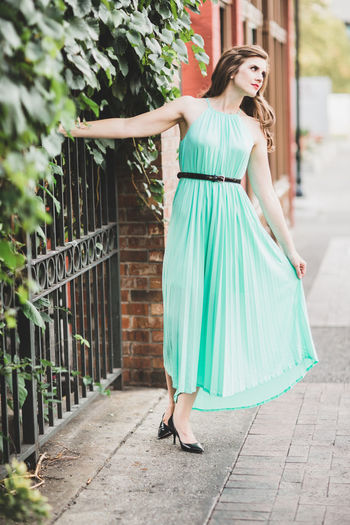 Full length of woman standing outdoors