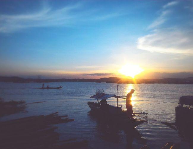 Hardwork Blue Wave Macx Mobilephotography Philippines Monotone Boats⛵️ Sunset Landscape