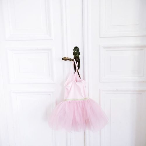 Pink Tutu Hanging On Door Handle
