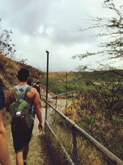 Diamondhead Sunrise Walk To The Top Adventure Badweather Landscape People My Love Rear View