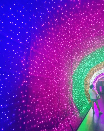 Multi Colored Indoors  Pink Color Close-up Illuminated Backgrounds Night