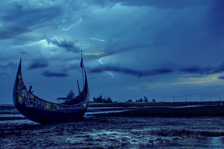 A strom have to ride Coastal Boats⛵️ Clouds And Sky Strom Landscape Cox's Bazar