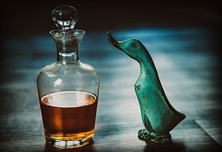 Nothing is impossible. Drinking Glass Drink Justgoshoot Tones Whiskey Duck Colors Close-up Indoors  Day