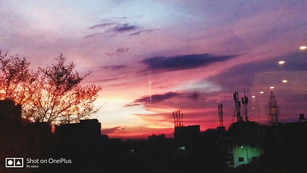 Sunset Sky No People Outdoors Tree Built Structure Architecture Building Exterior Urban Skyline City Cityscape Nature Day