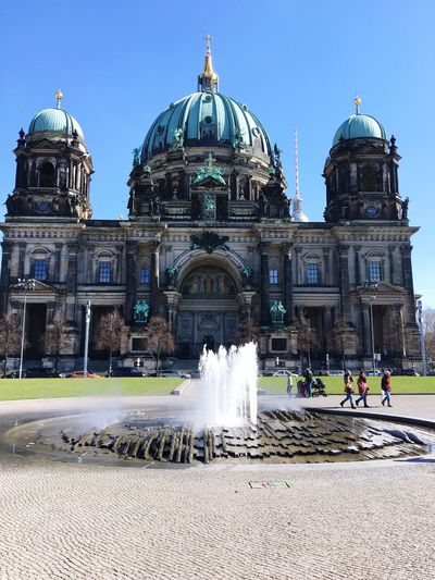 Fountain in front of historic dome