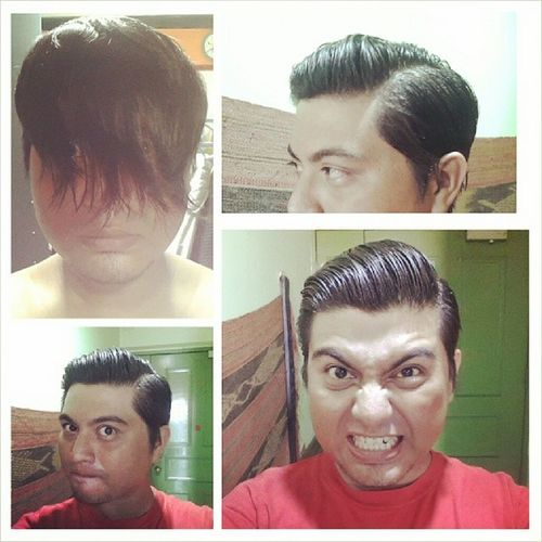 Its been a while.. Greased up and ready to go!! Pompsnotdead Pomp Thepanicroom_sg TimeForAHaircut