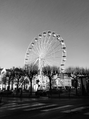 My Year My View Ferris Wheel Sky Reims Reims, France Reimscity Reims Cathedral City Of Champagne HuaweiP9 Huaweiphotography Huawei P9 Leica Monochrome Monochrome Photography Grande Roue