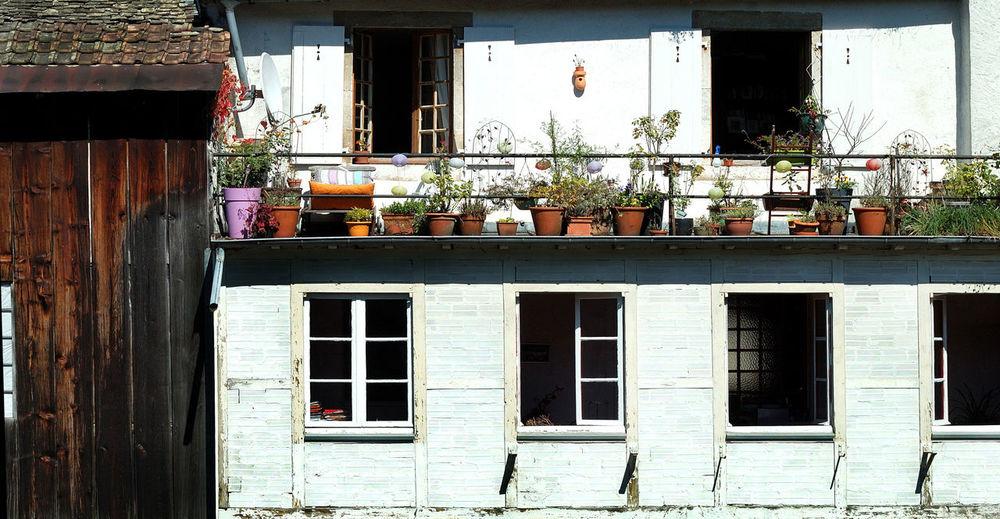 Architecture Architecture Rurale Balcony Building Exterior Closed Deterioration Exterior Façade Fenêtre Fleurs Igersdoubs Louey No People Ornans Residential Building Residential Structure