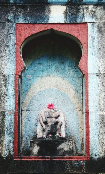 Vintage from India Temple Blue Wall India Worship