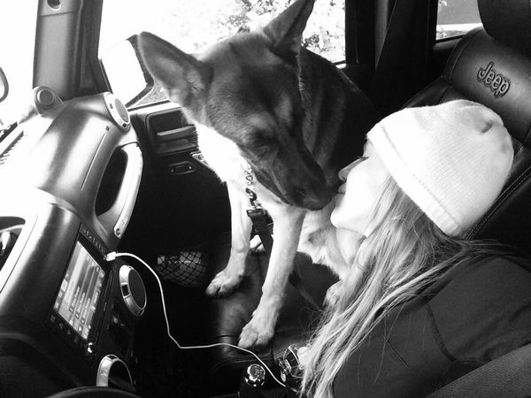 Mommy Love I Love My Dog Front Seat Black&white