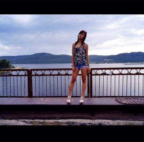 мост природа и красота красота девушка Самара