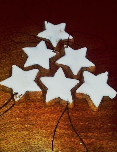 Christmas decoration Honey Cake 👌 White Glaze Christmas Decoration Star Shape