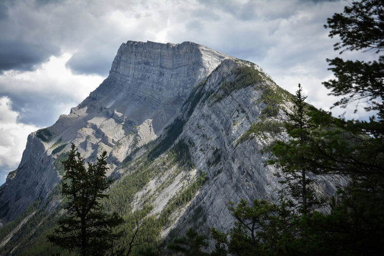 Alberta Banff  Banff National Park  Beauty In Nature Canada Cloud - Sky Day High Lonely Planet Mountain Nature No People Outdoors Scenery Sky Table Mountain Travel Travel Destinations Tree