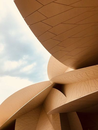 Arabian Moment Sky Low Angle View Nature Cloud - Sky Architecture No People Day Pattern Building Outdoors Wall City Building Exterior Travel Creativity Built Structure Brown Art And Craft Sunlight