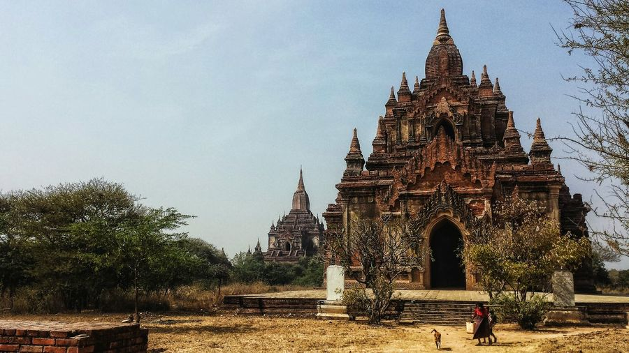 Burma Southeast Asia Paya Pagoda Temple Afternoon Plains Landscape Buddhism Buddhist Archaeology Ancient History Bucolic Countryside Outdoors Mandalay Region Blue Sky Bagan ASIA Phaya မြန်မာ ပုဂံ Miles Away Neighborhood Map Been There.