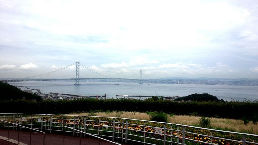 Taking Photos Travelling Bridges Akashi-shi,Japan