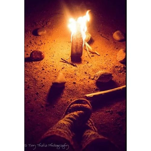 Cozy and warm. Tinythaliaphotography Fstopandstare Photography Fire camping warm winter boots fluffysocks bonfire knitting igdaily