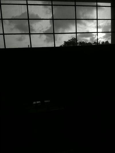Enjoying The View Gloomy Weather Manila College Clouds Dark Blackandwhite Gloomy Sound Of Life College Life