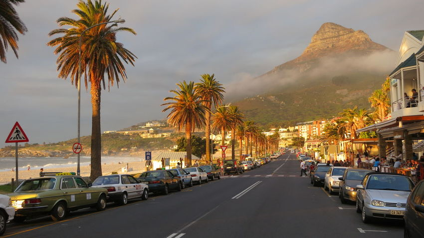 Beach Life Building Exterior City Day Fog Mountain No People Outdoors Palm Tree Road Scenery Sky Street Tree Vacation