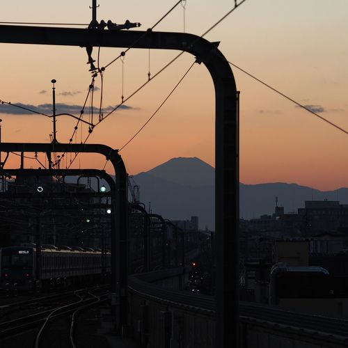 Sunset Mt.Fuji Shadow Station Platform Stationphotography Taking Photos Taking Pictures