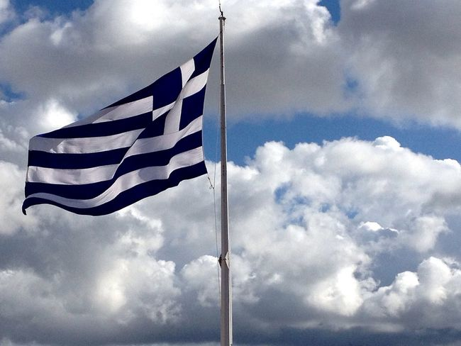 The Greek Flag at the Akropolis Eye4photography  Taking Photos Clouds And Sky Greece