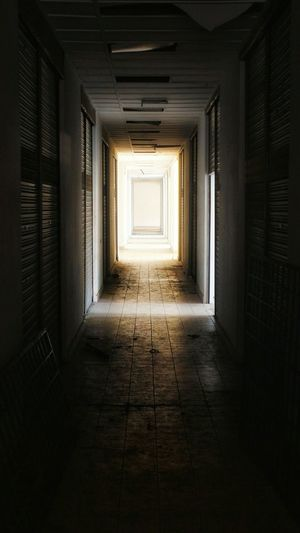 Dark Hallway, Only One Door... Something Waiting... Architecture Hallway Darkness And Light Scary Places Mystery Door MysteryStreet Haunted Maybe Abandoned Buildings First Eyeem Photo EyeEmNewHere