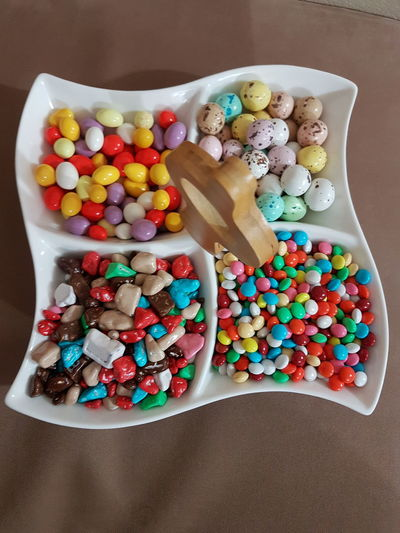 Candy Multi Colored No People Indoors  Ready-to-eat Sweet Food شکلات