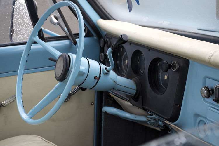 An insider's look: Chevrolet C-10 (1968) dashboard and steering wheel. Note the baby-blue handbrake... Chevrolet Chevrolet C-10 Dashboard Close-up Dashboard Dashboard View Day Land Vehicle Light Blue Mode Of Transport No People Old Steering Wheel Outdoors Transportation Vintage Car Vintage Car Interior