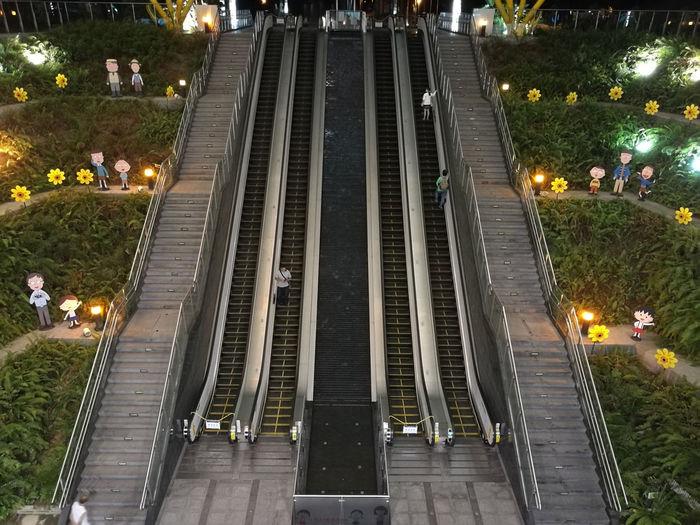 Central Park Kaohsiung City Waterfall Elevator Kaohsiung Kaohsiung, Taiwan Metro Station Staris Subway Station