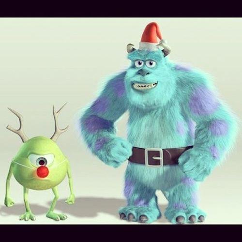 毛毛話:「……聖誕快樂呀⛄??✨,merry christmas?」 Monstersinc Disney Disneylover Christmas xmas