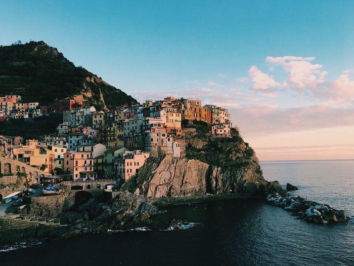 Riomaggiore Cingue Terre Travel Architecture Canon Cliff Italy Nature Riomaggiore Sea Sky Travel Destinations Water