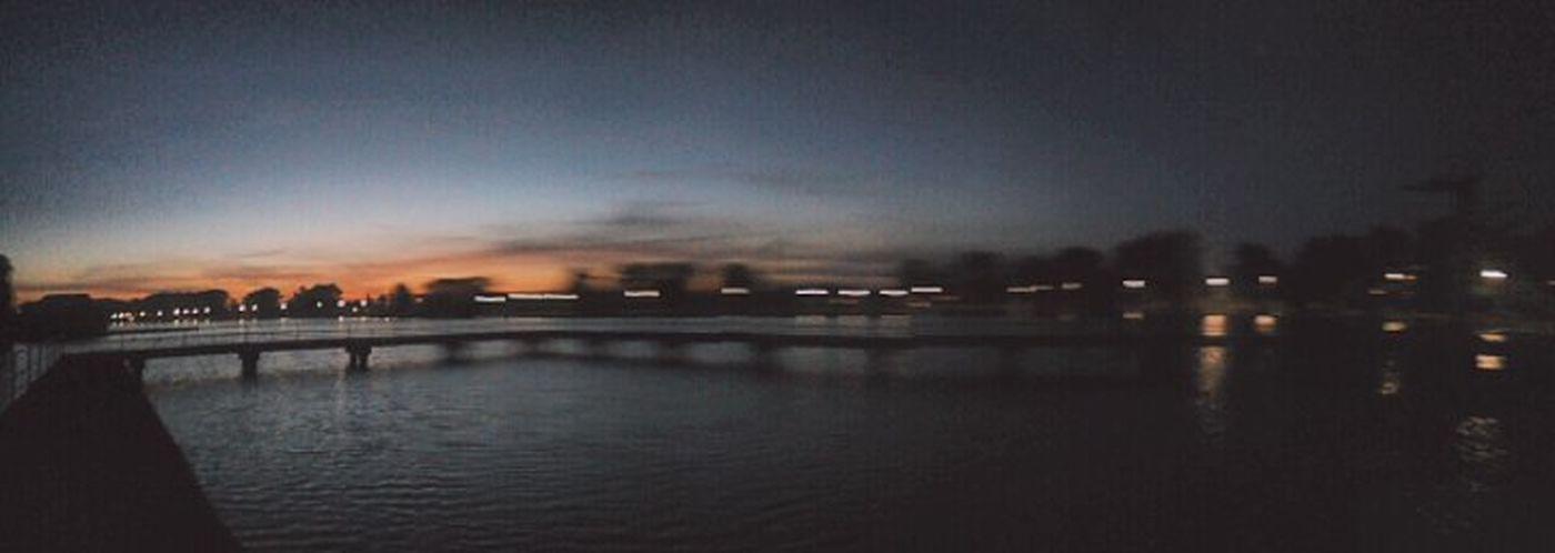 Water Cloud Sky Waterfront Dark
