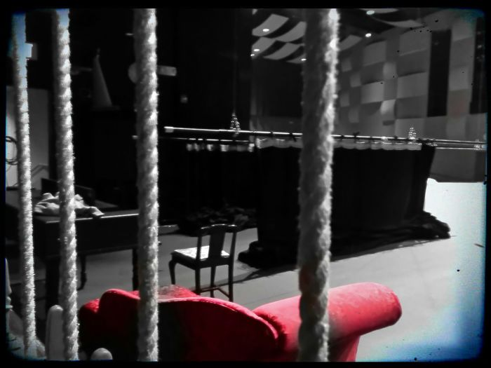 Staring back at the batten Battens Theater Techweek Set Design Chaiselounge Pride And Prejudice Ropes