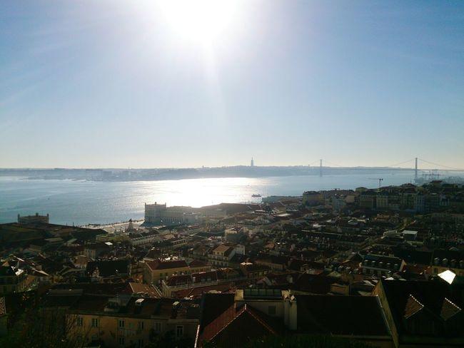 Lisboa View From Castelo De São Jorge Rio Tejo Lisbon