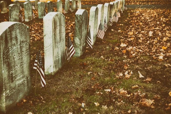 Happy Halloweeen No People Day Autumn Land Outdoors Field Old Grass Cemetery History Grave Change Abandoned Tombstone Tombstones Tomb Flags