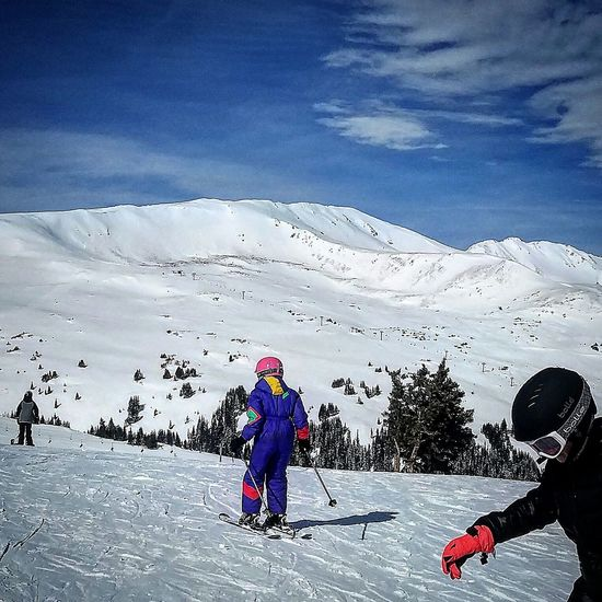 Kids Skiing Skiing Mountain Outdoors Nature Ski Holiday Winter Cold Temperature Warm Clothing Snow Ski-wear Nofaces Sports Clothing Loveland Colorado Blue Sky Snowboarding Sport Beauty In Nature Scenics Adventure Clear Sky Landscape Blue Mountain Peak One Person