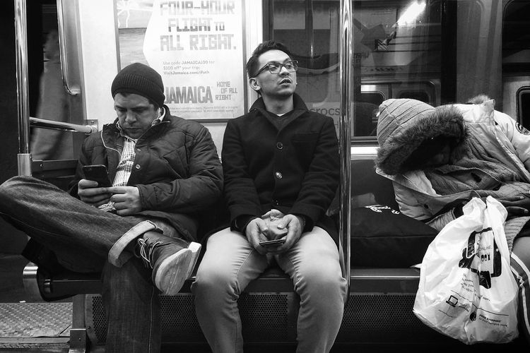 Outbound | Manhattan, near 23rd St. Public Transportation Black And White Late Night Iphone 6 Plus