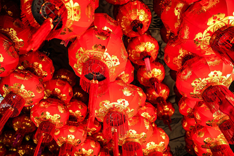 The beautiful pattern of chinese paper lantern in temple. Backgrounds Celebration Chinese Chinese Culture Chinese Lantern Chinese New Year Close-up Cultures Full Frame Hanging Illuminated Indoors  Large Group Of Objects Lentern Low Angle View Night No People Paper Lantern Red Thailand Tradition Traditional Traditional Culture