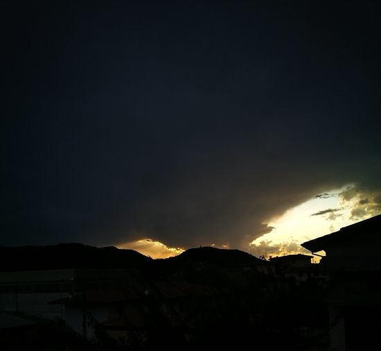 Night Mountain Silhouette Outdoors No People Power In Nature Sky Nature Beauty In Nature Astronomy